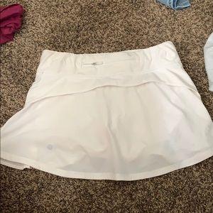 White lululemon skirt